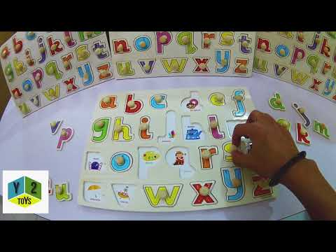 Wooden Lowercase Alphabet Puzzle