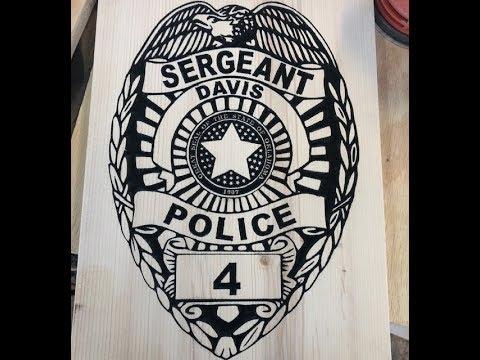 CNC Police Badge (amazing detail)