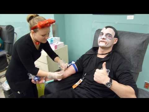 Reid Gives Blood