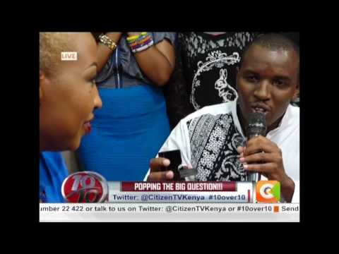 Love made on the ten.....Singer Vivian proposed live on TV #10Over10