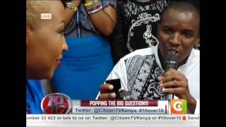 Love made on the ten.....Singer Vivian proposed to live on TV #10Over10
