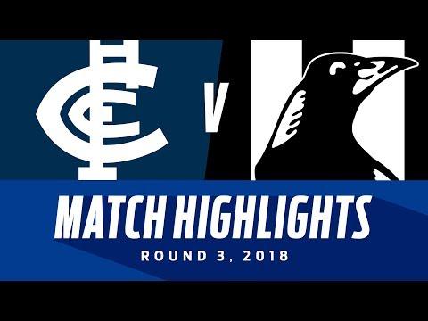 Carlton v Collingwood Highlights - Round 3 2018 - AFL