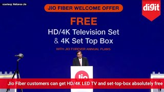 JioFiber Demo & Jio Fiber Welcome Offer (Free HD/4K TV & Set Top Box) Announcement
