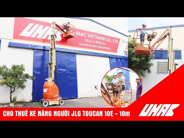 Xe nâng người JLG Toucan T10E trong nhà máy, kho xưởng