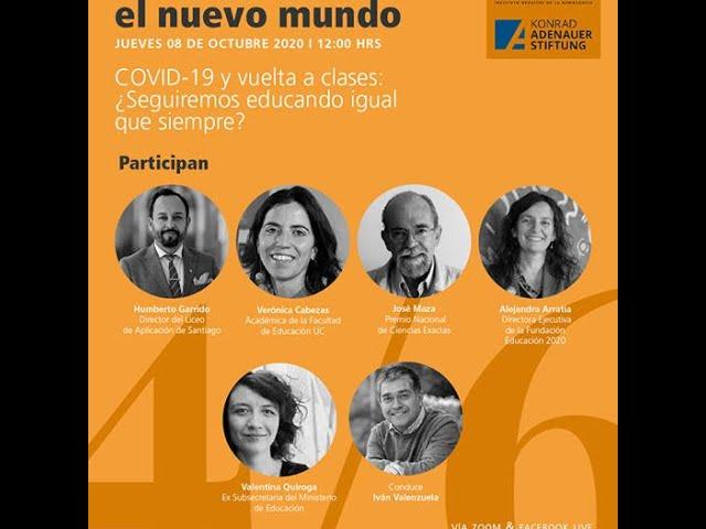Ciclo IDD/KAS Diálogos para un nuevo mundo: COVID-19 ¿seguiremos educando igual que siempre?