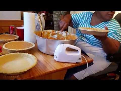 VLOG: COOKING WITH GRANDMA || SWEET POTATO PIE ||