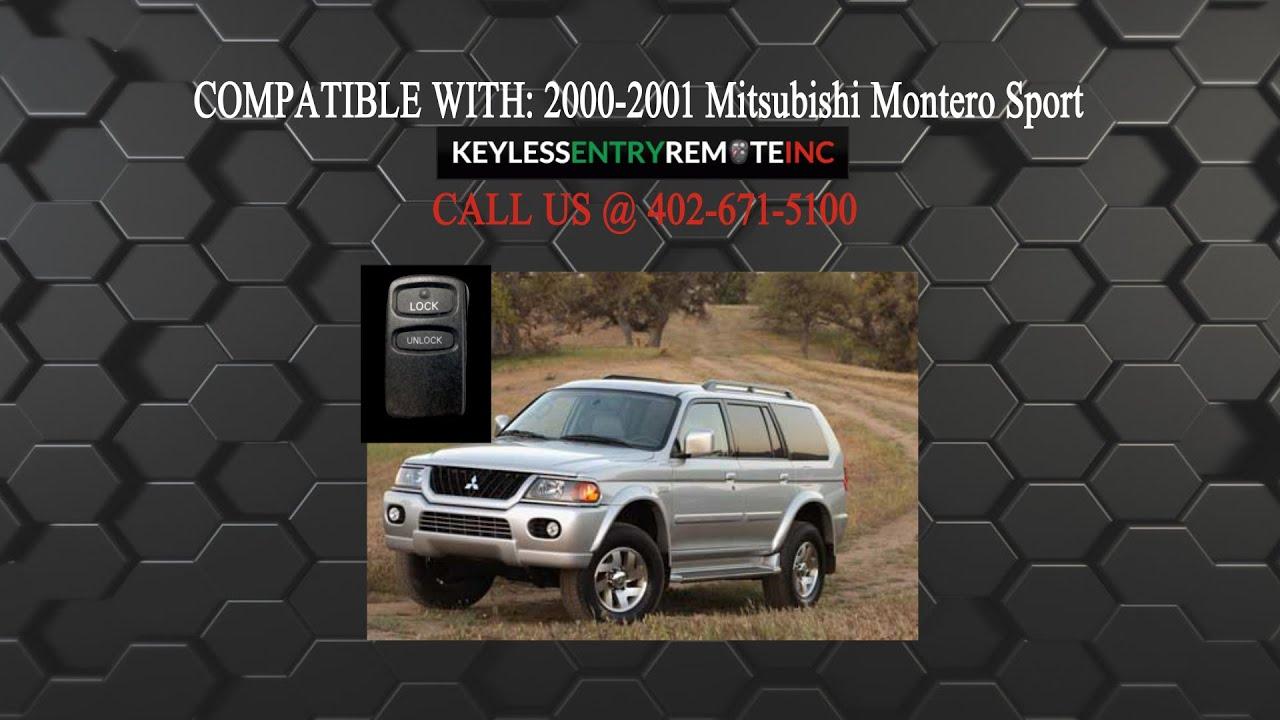 How To Replace Mitsubishi Montero Sport Key Fob Battery 2000 2001