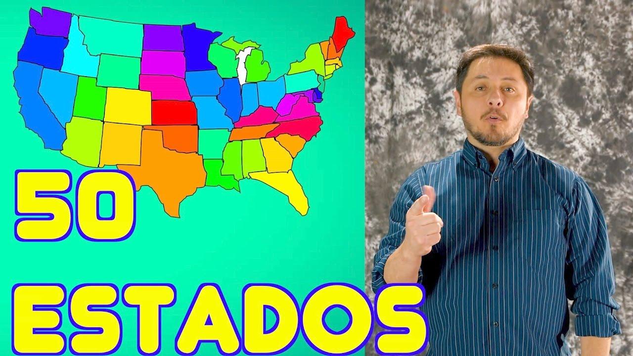 Los 50 ESTADOS en USA. Aprende a PRONUNCIAR en que estado vives.