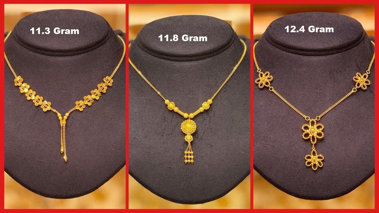 Light Weight Gold Chain Necklaces For Women Gold Chain Designs For Ladies With Weight Youtube