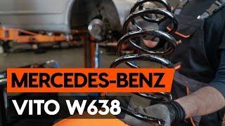 Cómo cambiar Juego de frenos de disco MERCEDES-BENZ VITO Box (638) - vídeo guía