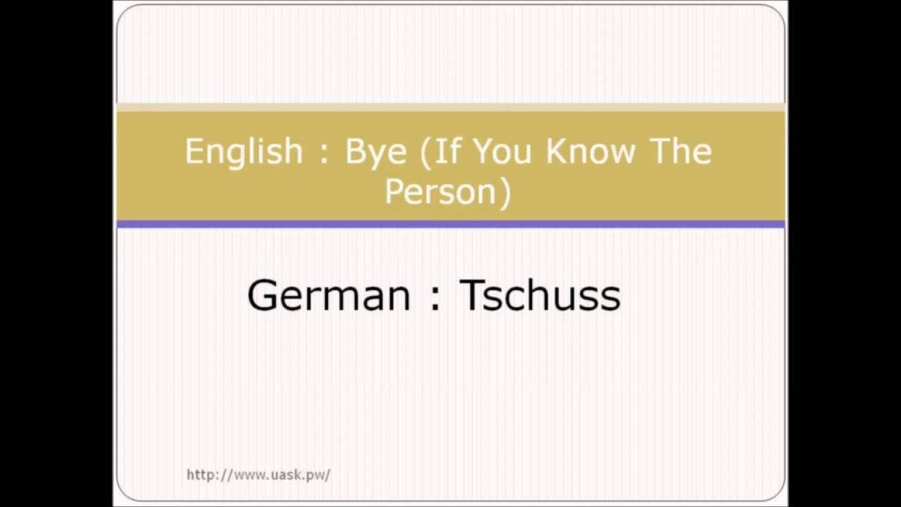 How To Say Hello In German Greetings In German Language Youtube