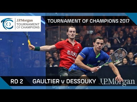 Squash: Gaultier v Dessouky - Tournament of Champions 2017 Rd 2 Highlights