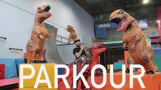 Dinosaur Parkour w/ Elton Castee
