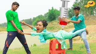 Must Watch New Funniest Comedy Video 2021 Amazing Funny Video 2021 Episode 37 @Villfunny Tv
