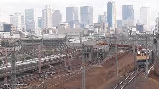 JR西日本 加島陸橋でレール積載のロンチキ工臨を撮影(H30.1.10)