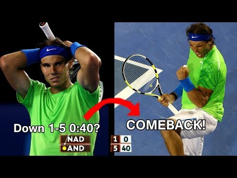 Rafael Nadal - Top 5 comebacks in sets Mp3