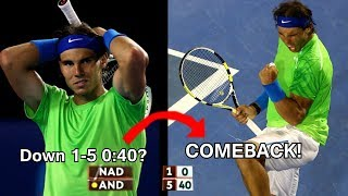 Rafael Nadal - Top 5 comebacks in sets