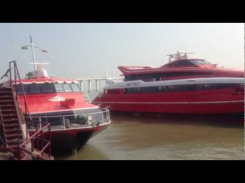 Cruising from Macau to Hong Kong with Turbojet Hydrofoil Ferry