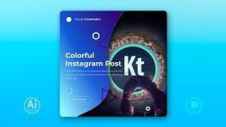 Instagram Post Design #1 - Instagram Ad - Adobe Illustrator CC 2019