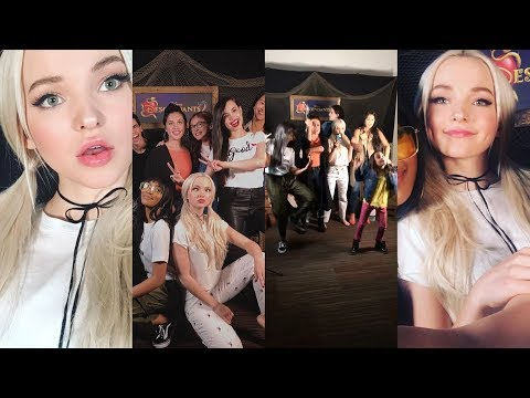 Dove Cameron | Snapchat Story | 21 July 2017 w/ Sofia , China & Descendants 2 Cast