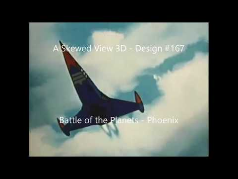 Model #167 - Battle of the Planets phoenix 3d printed on our tevo tornado