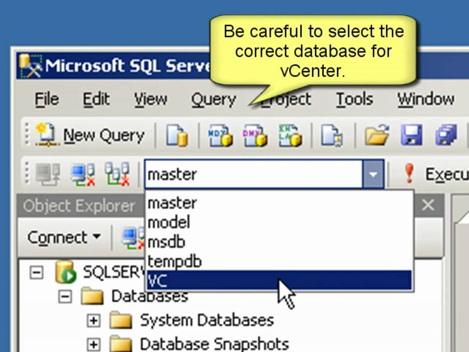 How to purge old data from the database used by VMware vCenter Server