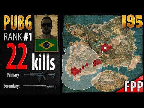 [Eng Sub] PUBG Rank 1 - GabrielCanedo 22 kills [SA] SOLO FPP - PLAYERUNKNOWN'S BATTLEGROUNDS #195