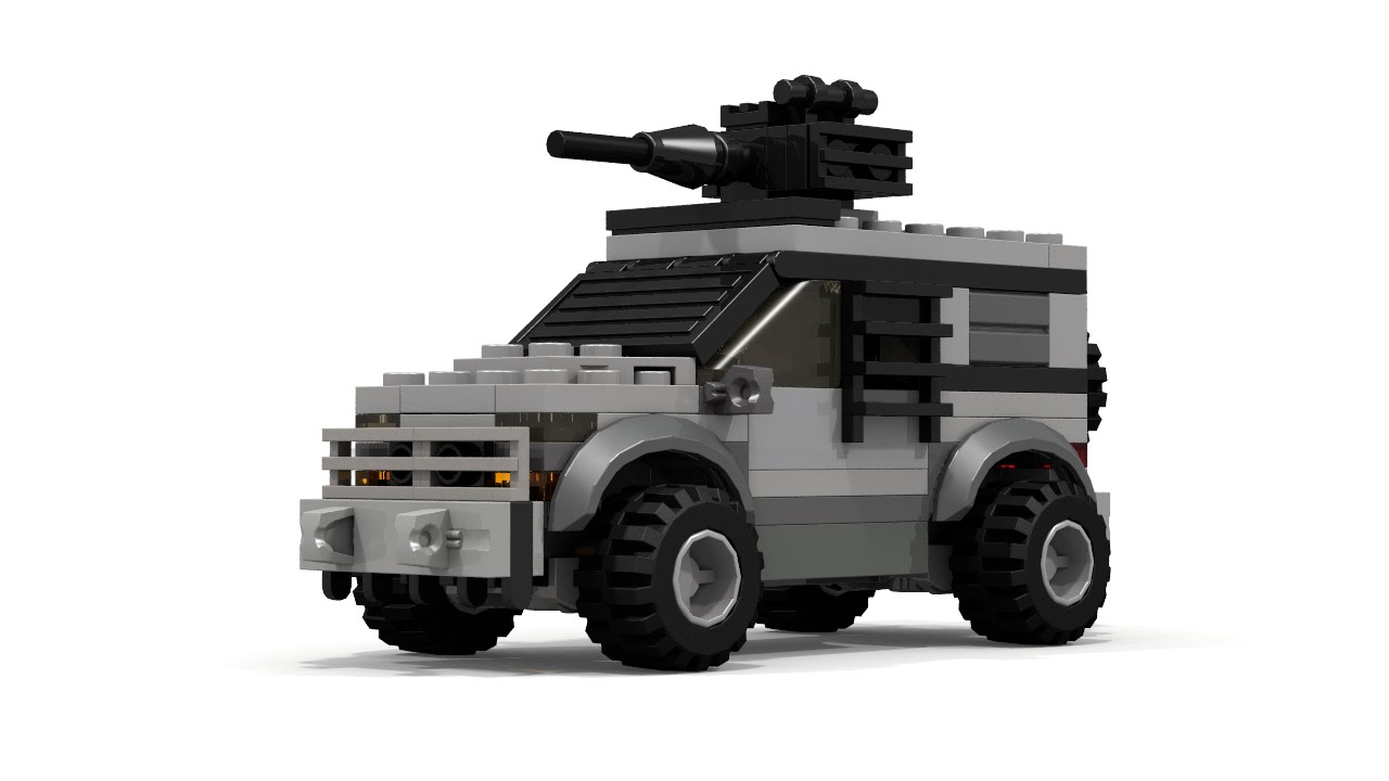 Moc Lego Military Car With Gun Instructions Youtube