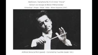 Beethoven: Symphony No.9 / Karajan & VPO (1947) Artificial Stereo & Pitch-Corrected