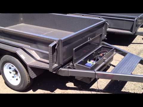 8x5 Tandem Tipper Trailer