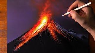 Volcano Drawing 🌋