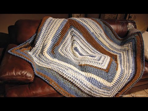 How to Crochet A 🏡  Rectangle Blanket: Bundle of Love
