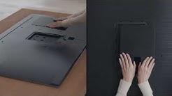 Katso ja opi, kuinka asentaa Samsung QLED TV -jalusta