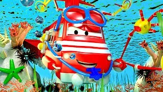 Troy The Train is the SUBMARINE TRAIN in Car City   Cars & Trucks cartoon for children