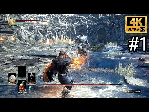 DARK SOULS 3 4K Gameplay Walkthrough Part 1 - Dark Souls III - DS3 (4K 60fps)