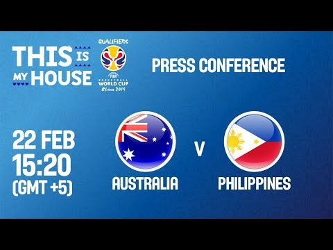 Australia v Philippines - Press Conf - FIBA Basketball World Cup 2019 - Asian Qualifiers