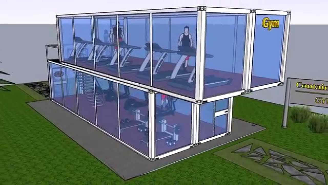 Palestra fitness container shelter box produzione youtube
