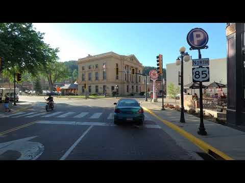 4K Driving through Deadwood, South Dakota