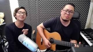 Yếu đuối cover - Hoàng Dũng vs Hiển râu guitar