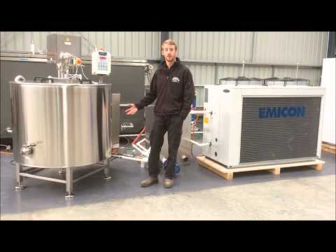Automated Stainless Steel 500L Batch Pasteuriser