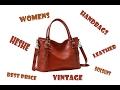 Heshe Womens Leather Vintage Handbags