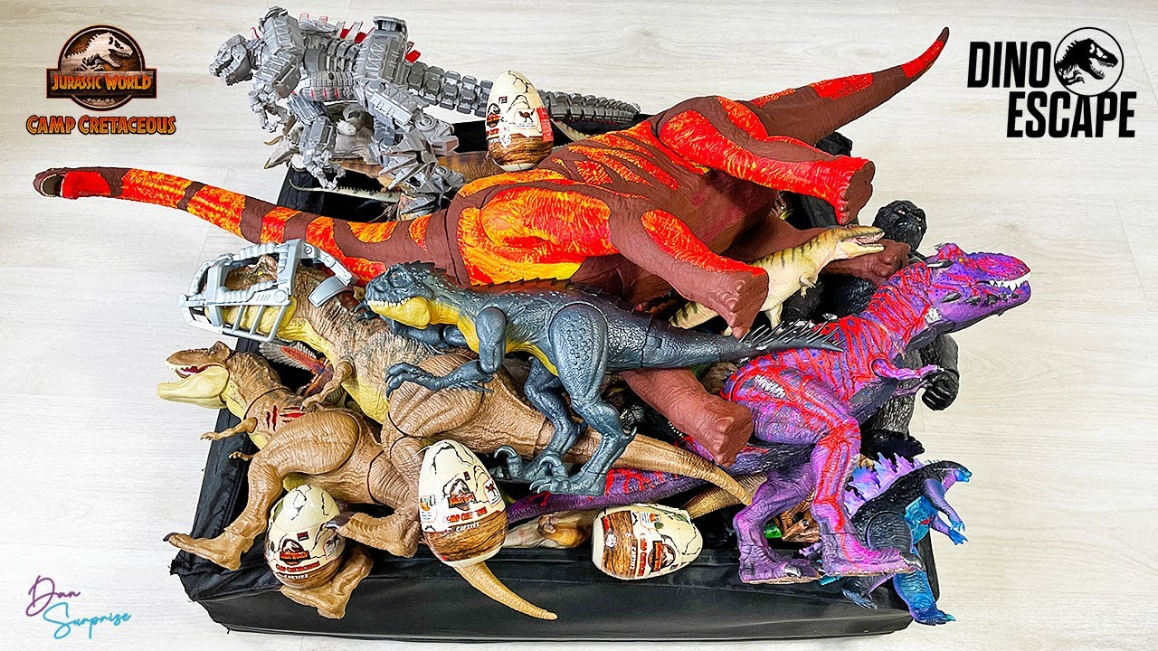 Colossal Box of 152 Dinosaurs from Jurassic World Camp Cretaceous Dino Escape! Scorpios Rex!