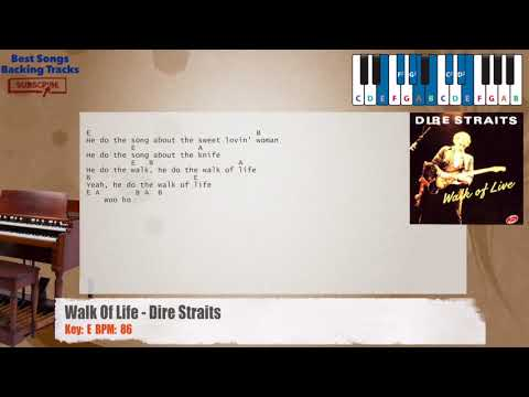 Walk Of Life - Dire Straits Piano Backing Track with chords and lyrics