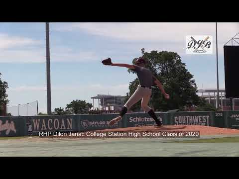 RHP Dillon Janac College Station High School Class of 2020