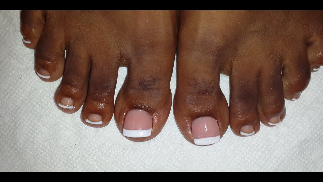 French Toe Nail Art - Acrylic Nail Tutorial - YouTube