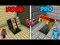 Minecraft NOOB vs. PRO: BASE SECRET ENTRANCE in Minecraft!