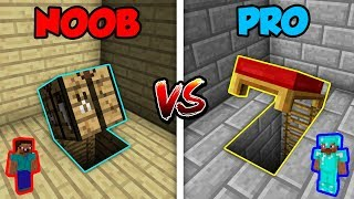 Minecraft NOOB Vs. PRO BASE SECRET ENTRANCE In Minecraft