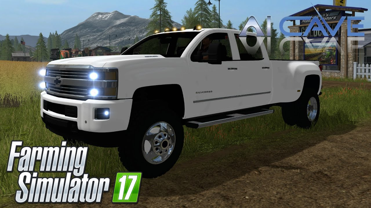 Farming Simulator 2017 Mods Review - Chevy Silverado 3500HD Truck - YouTube