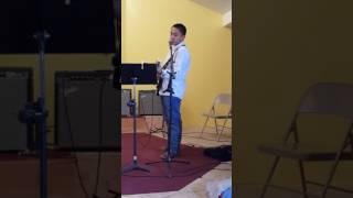 Josiah singing I Remember Calvery in Navajo - 4/2/17