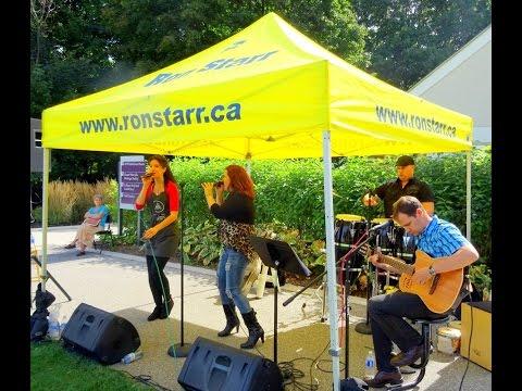 Heather Brissenden and Carla Gonzalez sing Besame Mucho, Art in the Park